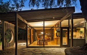 Custom Mid-Century Modern Home with Post and Beam Architecture by HartmanBaldwin