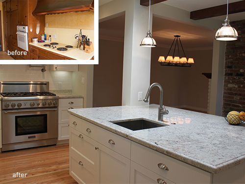 A Great Deal Of Attention Was Focused On The Remodeling Kitchen Note Dark Narrow And Enclosed Previous In An Effort To Open Floor